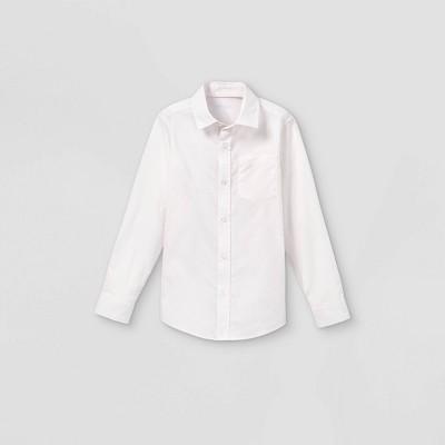 Boys' Woven Long Sleeve Button-Down Shirt - Cat & Jack™ Light Pink