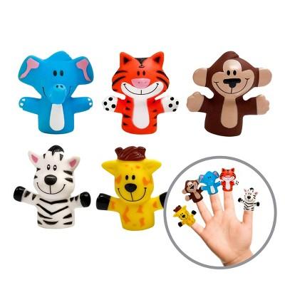 Playtex Safari Animal Bath Finger Puppets - 5pk