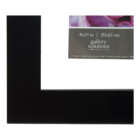 Single Image 8x10 Float To 5x7 Wide Black Frame Gallery Solutions
