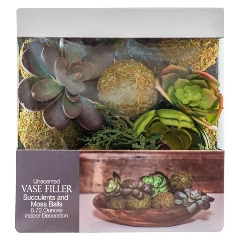 Succulent Moss Ball Vase Filler Green 6 72oz Lloyd