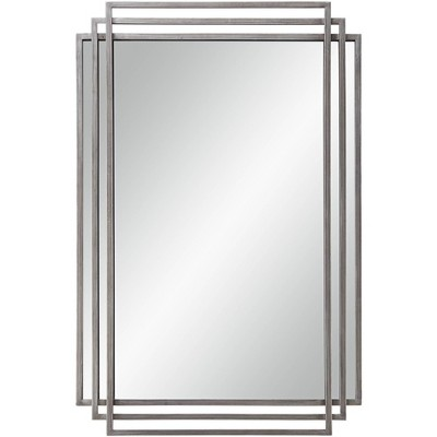 "Uttermost Trio Silver 23 1/2"" x 36 1/2"" 3-Layer Framed Wall Mirror"