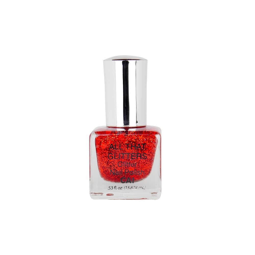 Image of Cai All That Glitters Nail Polish Red - 0.53oz