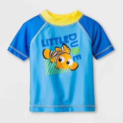 Baby Boys' Disney Finding Nemo Short Sleeve Rash Guard - Blue 3-6M