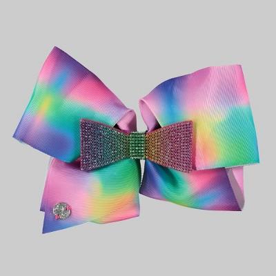 Girls' JoJo Siwa Tie-Dye with Rhinestone Bow Hair Clip
