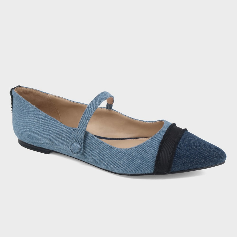 Women's Nellie Denim Mary Jane Ballet Flats - Who What Wear Blue 9