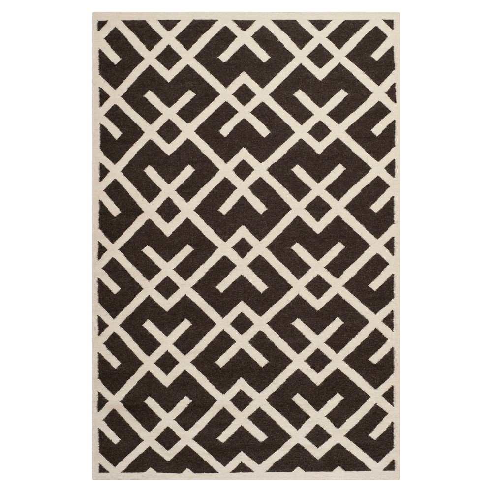 Tangier Dhurry Area Rug - Brown/Ivory (3'x5') - Safavieh