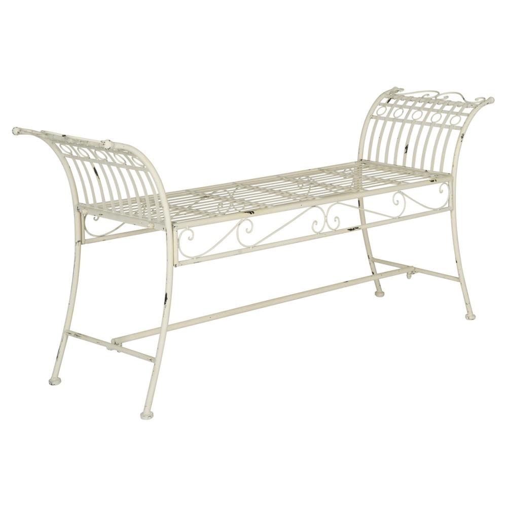 Hadley Bench - Antique / White - Safavieh, Beige