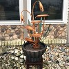 """34""""H Copper Flower Petals with Five Tier Leaves Outdoor Water Fountain - Sunnydaze Decor - image 2 of 4"""