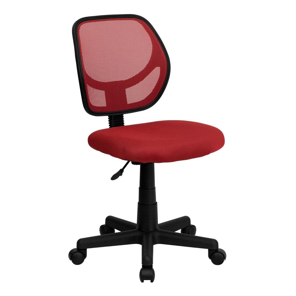 Low Back Red Mesh Swivel Task Chair - Flash Furniture