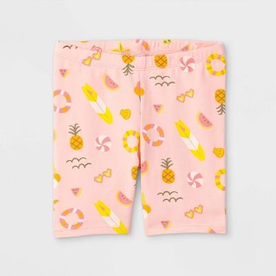 Toddler Girls' Summer Print Bike Shorts - Cat & Jack™ Light Pink 2T