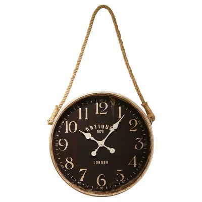 Decorative Rope Clock Tan - VIP Home & Garden®