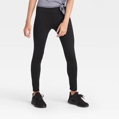 Girls' Performance High-Rise Leggings - All in Motion™ Black