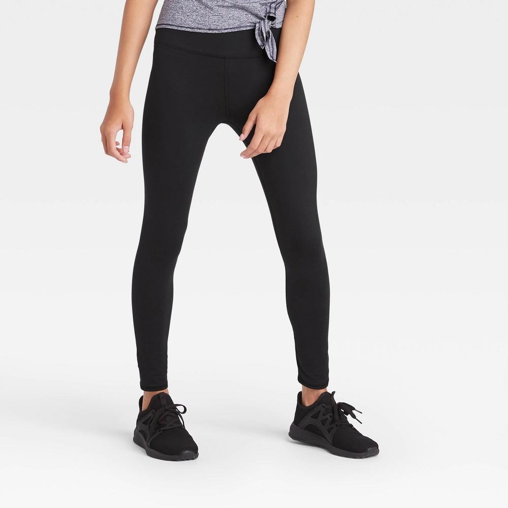 Girls 39 Performance High Rise Leggings All In Motion 8482 Black Xs