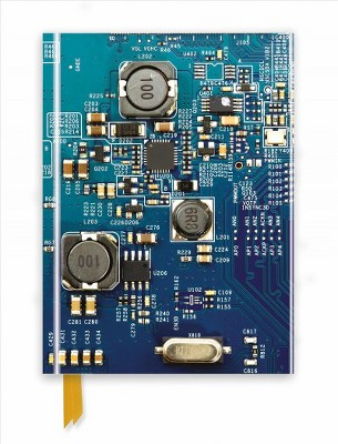 circuit board blue foiled journal (new) (hardcove targetabout this item