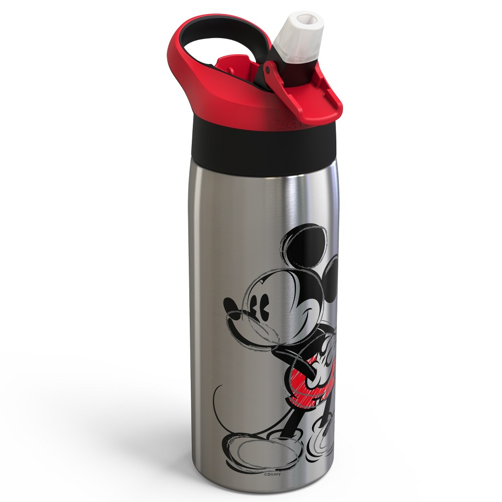 Image of Mickey Mouse & Friends Mickey Mouse 19oz Stainless Steel Water Bottle Black/Red, Multi-Colored