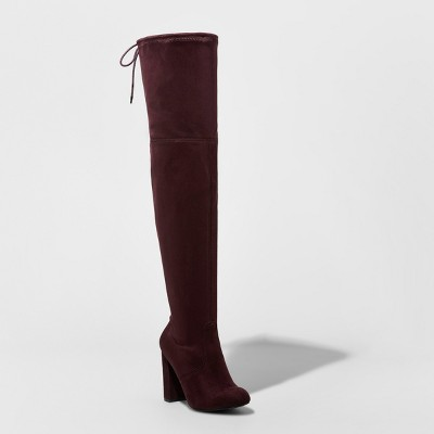 f258bc2505d7 Women s Penelope Heeled Over The Knee Boots - A New Day™ Black 8 ...