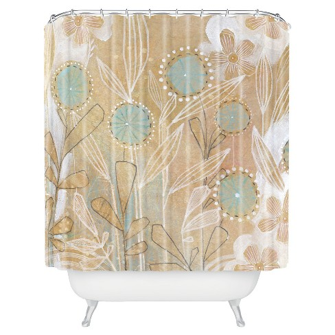 Cori Dantini Shower Curtain Blue Floral - Deny Designs® - image 1 of 1