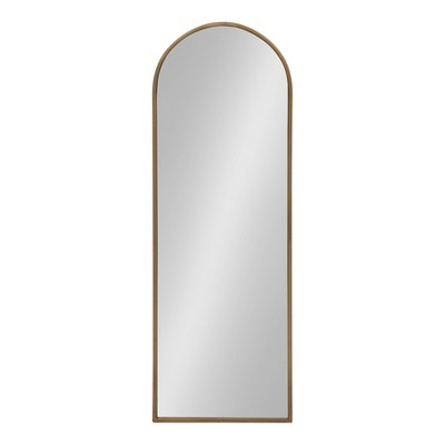 """16"""" x 47"""" Valenti Tall Framed Arch Mirror Gold - Kate and Laurel"""