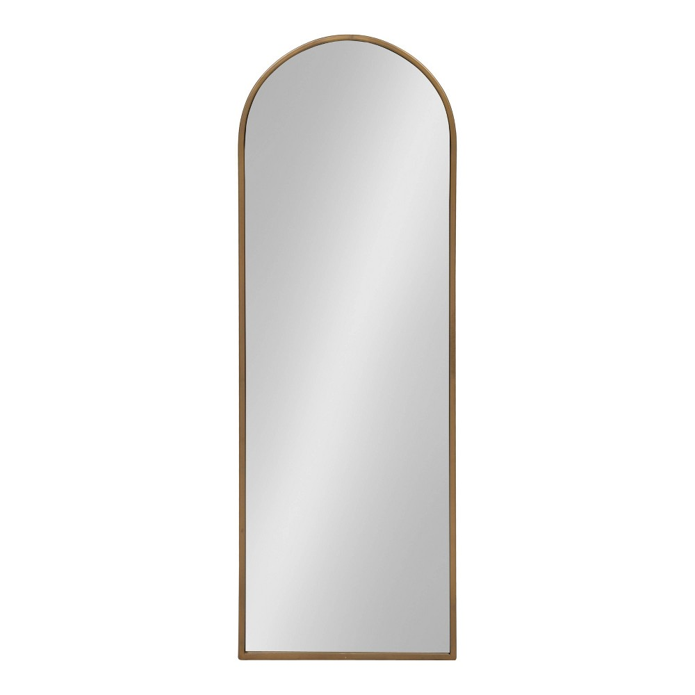 "Image of ""16""""x48"""" Valenti Tall Framed Arch Mirror Gold - Kate and Laurel"""