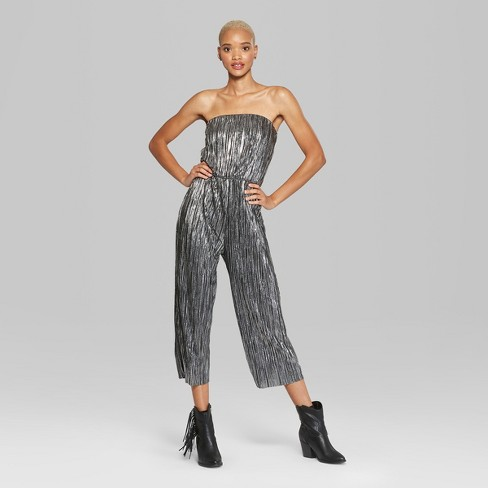 081f0a61d916 Women s Strapless Tube Jumpsuit - Wild Fable™ Black XS   Target