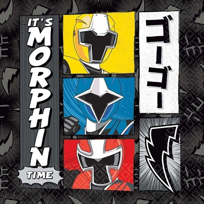 """Amscan Power Rangers Ninja Steel 5"""" Beverage Napkins, 16-Pack"""