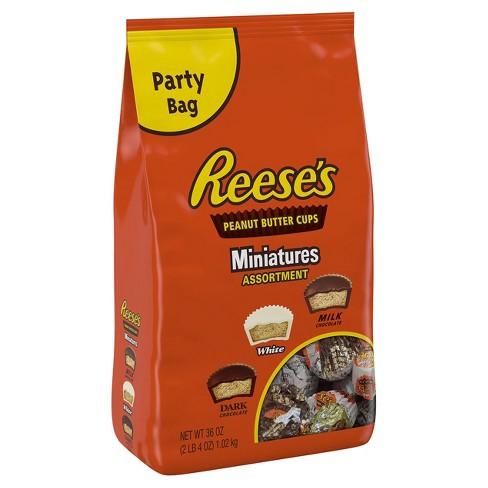 Reeses Peanut Butter Cups Miniatures Assortment 36oz Target