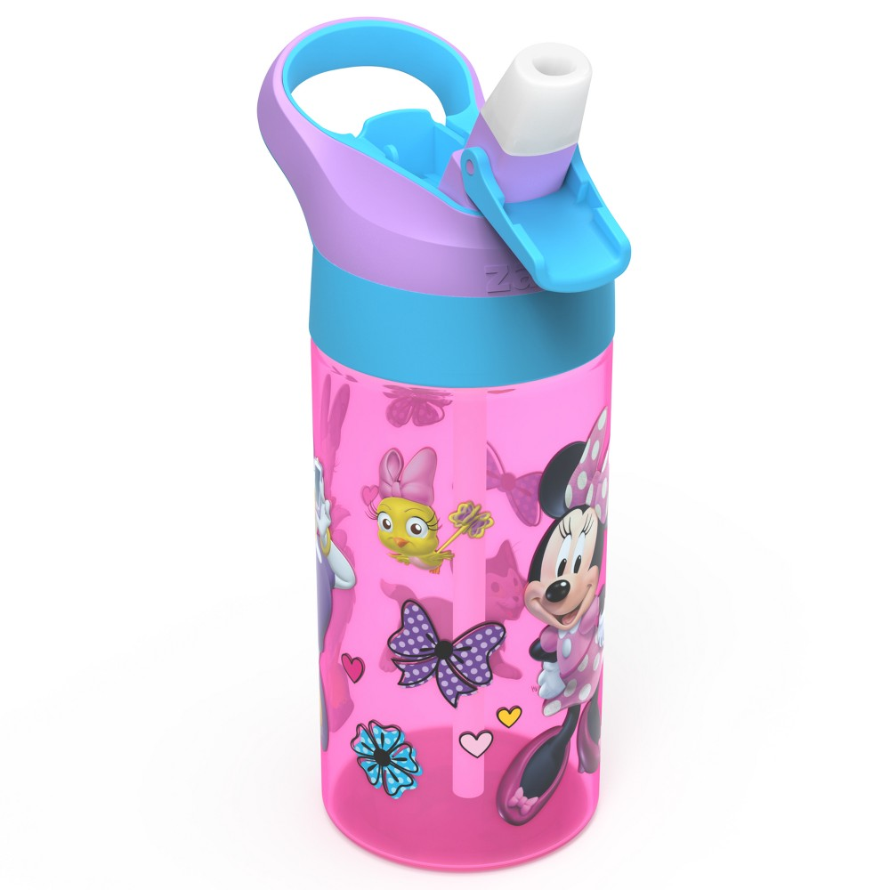 Image of Mickey Mouse & Friends Minnie Mouse 17.5oz Plastic Water Bottle Pink/Blue, Multi-Colored