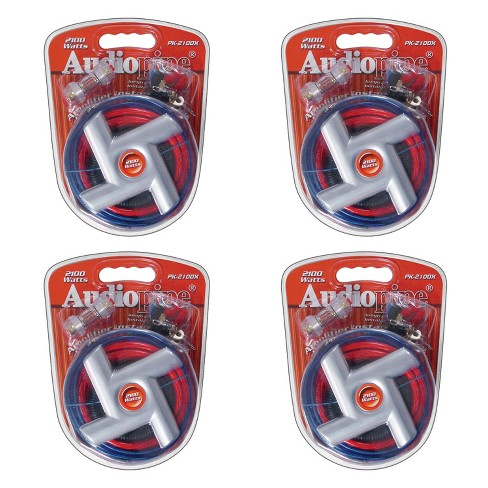 Audiopipe Amplifier Installation Kit with Plugs, Cables, and Ties (4 Pack) - image 1 of 4