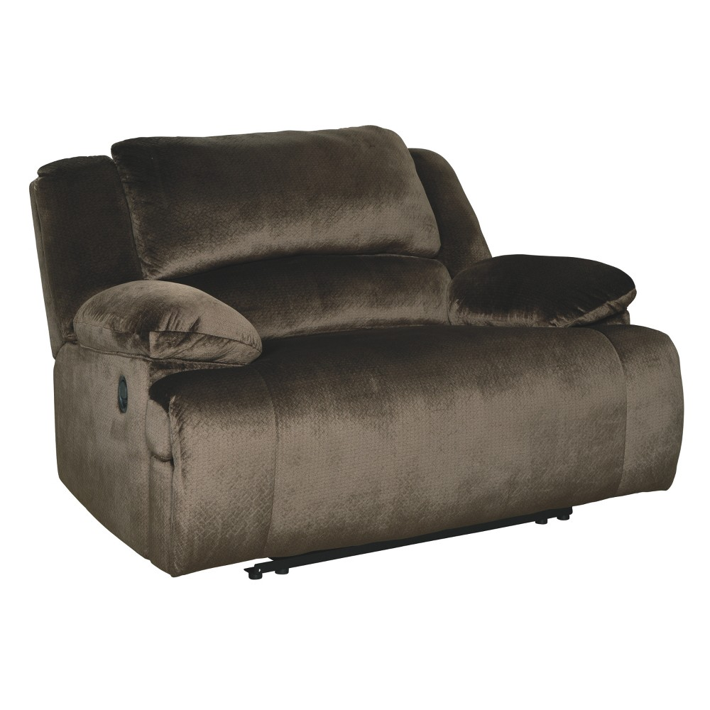 Clonmel Zero Wall Power Wide Recliner Chocolate Brown - Signature Design by Ashley