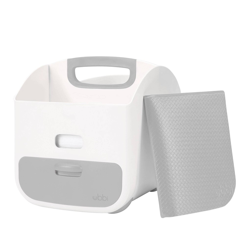 Image of Ubbi Diaper Caddy - Gray, diaper storage containers