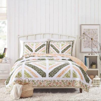 Bonnie Christine for Makers Collective 3pc Floret Field Quilt & Sham Set Pink