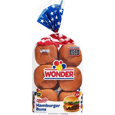 Wonder Hamburger Buns - 12ct/18.5oz