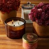 Lidded Glass Jar Crackling Wooden Wick Candle Whiskey & Oak - Threshold™ - image 3 of 3