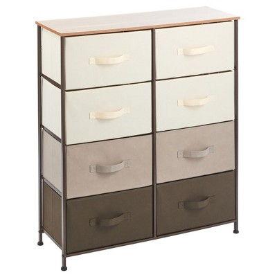 mDesign Vertical Dresser Storage Tower with 8 Drawers