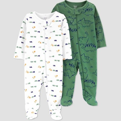 Baby Boys' 2pk Dino Sleep N' Play - Just One You® made by carter's White/Green 3M