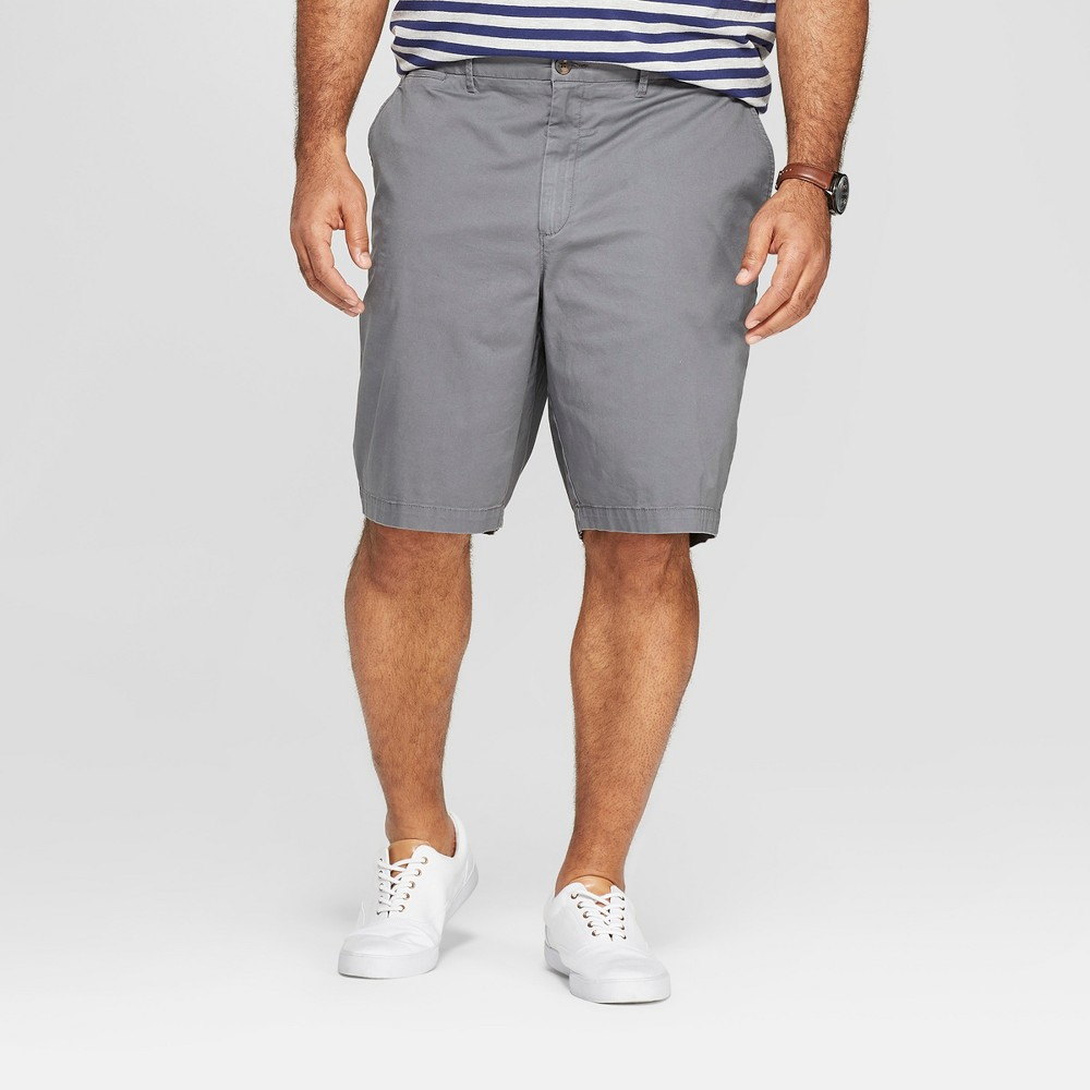 Men's Big & Tall 10.5 Chino Shorts - Goodfellow & Co Thundering Gray 52