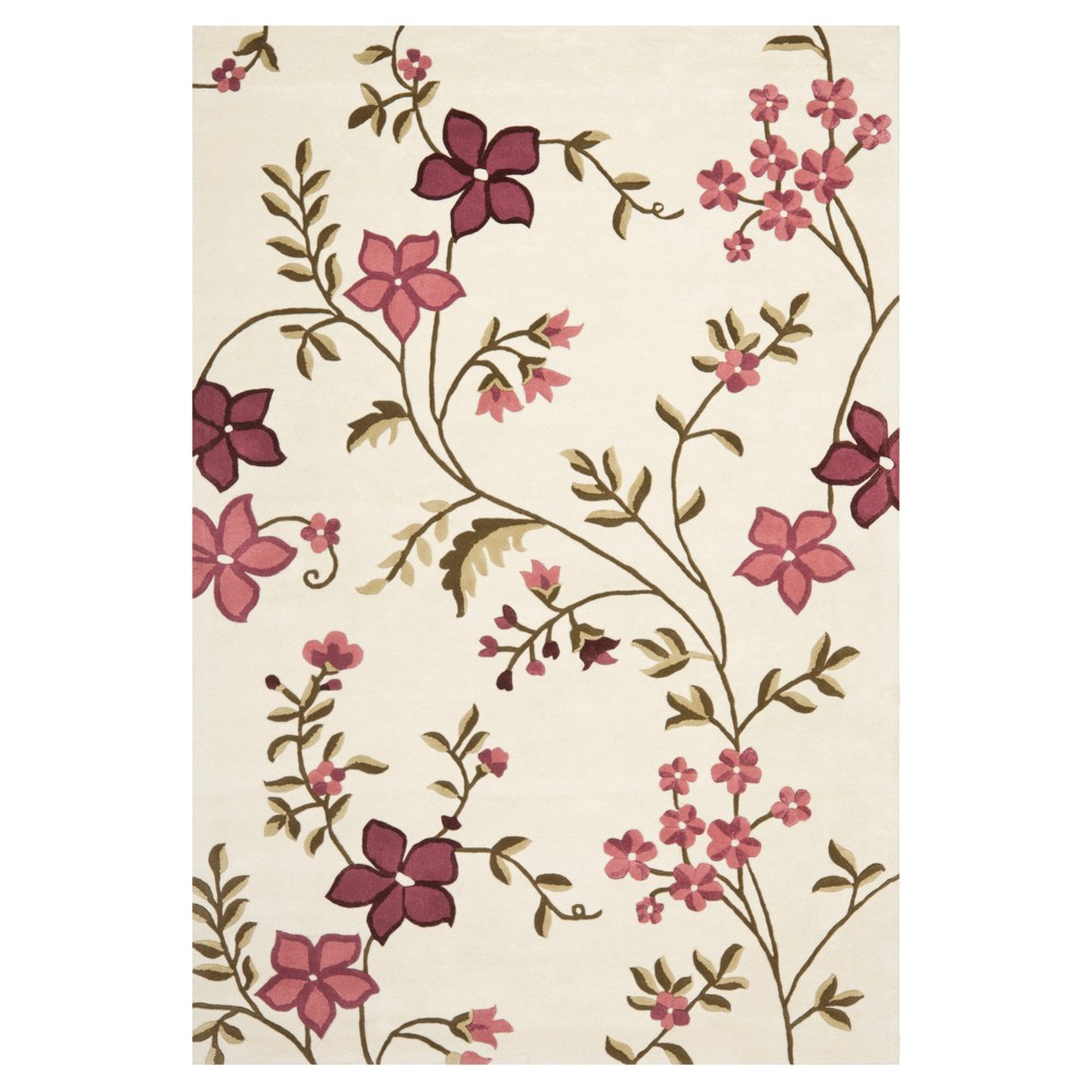 Capri Rug - Ivory/Purple - (6'X9') - Safavieh, White