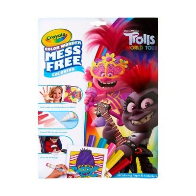 Crayola Color Wonder Trolls World Tour Coloring Pages Set