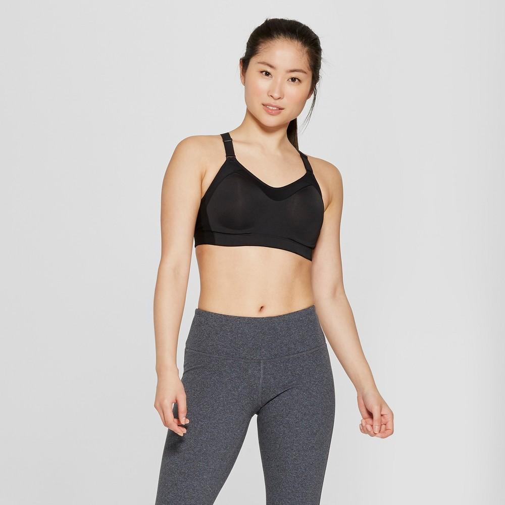 Women's Power Shape Medium Support Strappy Back Sports Bra - C9 Champion Black XL