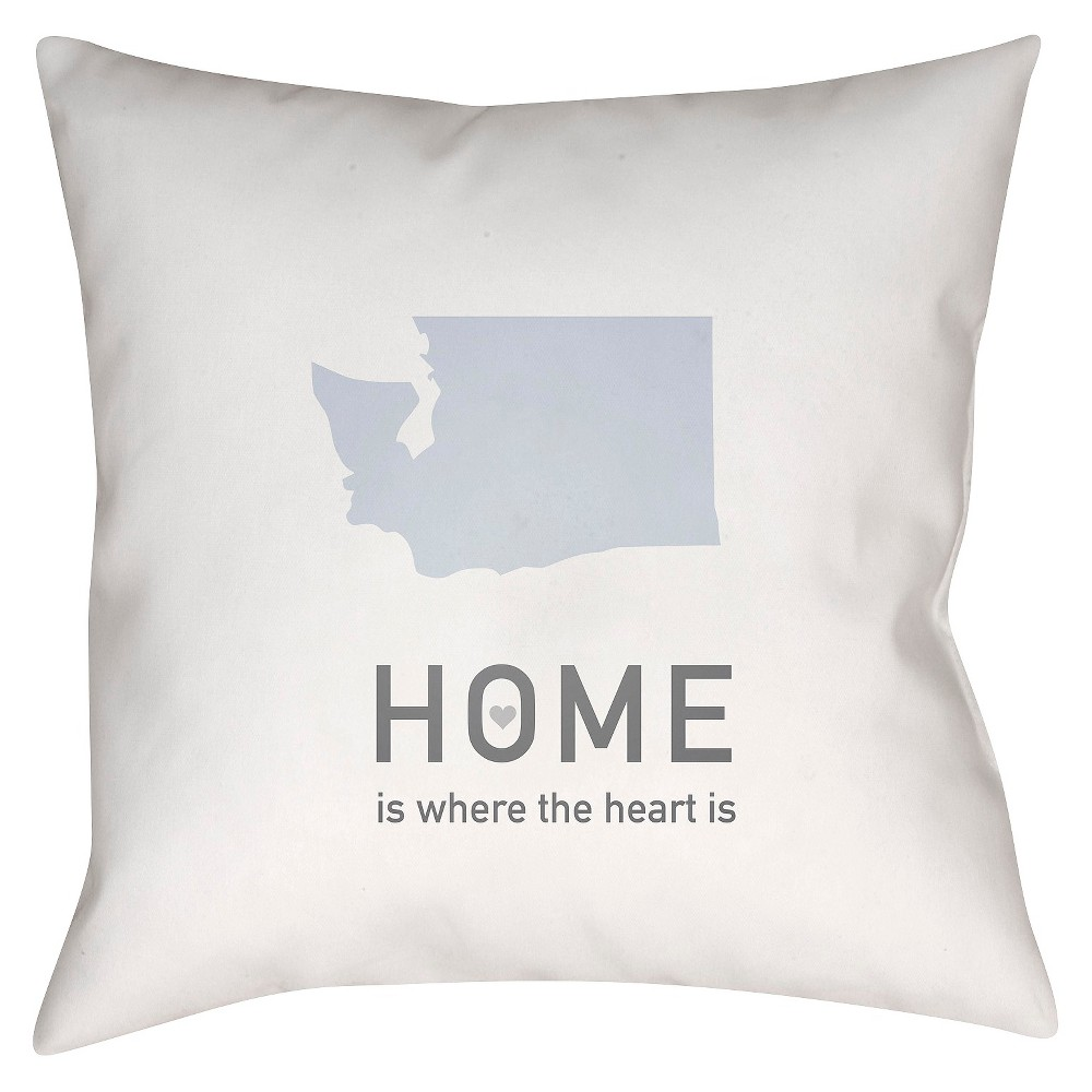 White Homebound Washington Throw Pillow 18