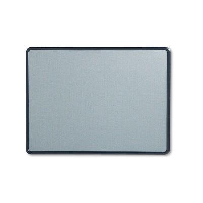 Quartet Contour Fabric Bulletin Board 48 x 36 Light Blue Plastic Navy Blue Frame 7694BE