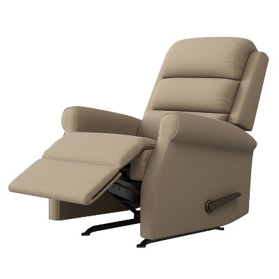 Liam Left Hand Rocker Recliner Plush Low Pile Velour - ProLounger