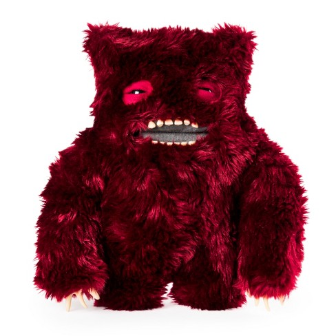 "Fuggler Funny Ugly Monster, 12"" Clawey Deluxe Plush Creature with Teeth - Dark Red - image 1 of 3"