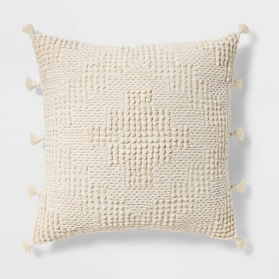 Oversize Chunky Textured Diamond Throw Pillow Cream - Opalhouse™