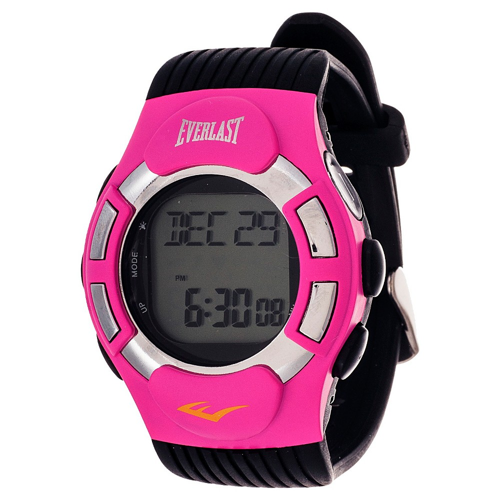 Image of Everlast Finger Touch Heart Rate Monitor Watch Pink, Women's