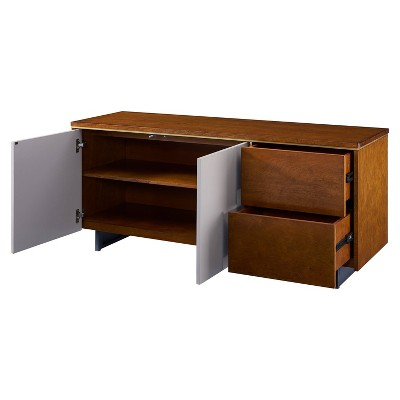 """Midhurst Storage TV Stand for TVs up to 60"""" Brown/White - Holly & Martin"""