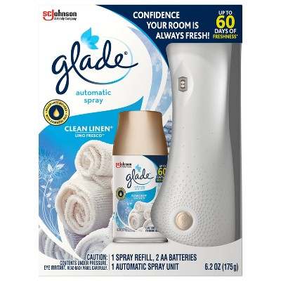 Glade Clean Linen Automatic Spray Starter - 6.2oz