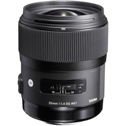 Sigma 35mm f/1.4 DG HSM ART Lens for Nikon AF Cameras - USA Warranty