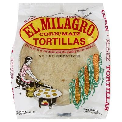 El Milagro Corn Tortillas - 10oz/10ct
