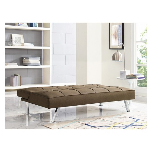 Chelsea Tufted Convertible Sofa In Java Relax A Lounger